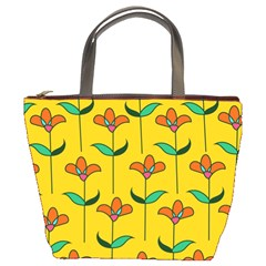 Small Flowers Pattern Floral Seamless Vector Bucket Bags