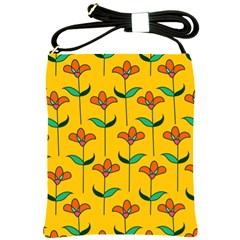 Small Flowers Pattern Floral Seamless Vector Shoulder Sling Bags