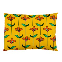 Small Flowers Pattern Floral Seamless Vector Pillow Case (Two Sides)