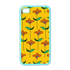 Small Flowers Pattern Floral Seamless Vector Apple Iphone 4 Case (color)