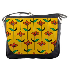 Small Flowers Pattern Floral Seamless Vector Messenger Bags