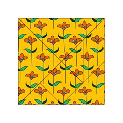 Small Flowers Pattern Floral Seamless Vector Acrylic Tangram Puzzle (4  x 4 )