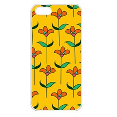 Small Flowers Pattern Floral Seamless Vector Apple iPhone 5 Seamless Case (White)