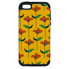 Small Flowers Pattern Floral Seamless Vector Apple iPhone 5 Hardshell Case (PC+Silicone)