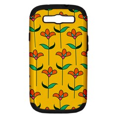 Small Flowers Pattern Floral Seamless Vector Samsung Galaxy S Iii Hardshell Case (pc+silicone)