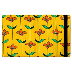 Small Flowers Pattern Floral Seamless Vector Apple iPad 2 Flip Case