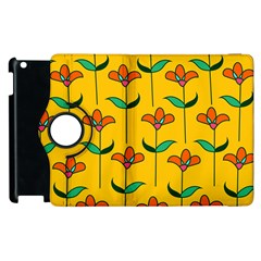 Small Flowers Pattern Floral Seamless Vector Apple iPad 3/4 Flip 360 Case