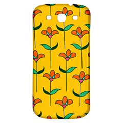 Small Flowers Pattern Floral Seamless Vector Samsung Galaxy S3 S III Classic Hardshell Back Case