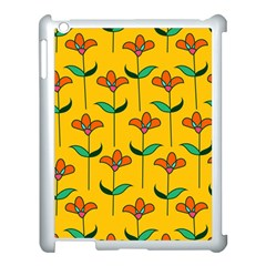 Small Flowers Pattern Floral Seamless Vector Apple iPad 3/4 Case (White)
