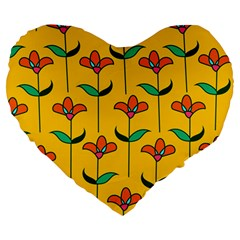 Small Flowers Pattern Floral Seamless Vector Large 19  Premium Heart Shape Cushions