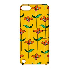 Small Flowers Pattern Floral Seamless Vector Apple iPod Touch 5 Hardshell Case with Stand