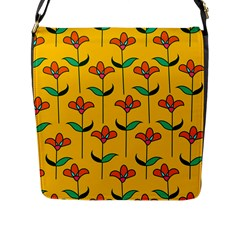 Small Flowers Pattern Floral Seamless Vector Flap Messenger Bag (L)