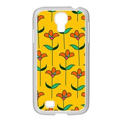 Small Flowers Pattern Floral Seamless Vector Samsung GALAXY S4 I9500/ I9505 Case (White)