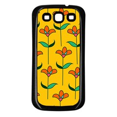 Small Flowers Pattern Floral Seamless Vector Samsung Galaxy S3 Back Case (Black)