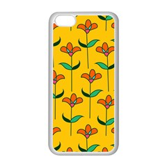 Small Flowers Pattern Floral Seamless Vector Apple iPhone 5C Seamless Case (White)