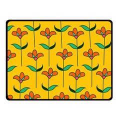 Small Flowers Pattern Floral Seamless Vector Double Sided Fleece Blanket (small)