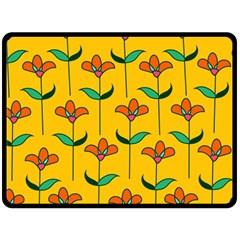 Small Flowers Pattern Floral Seamless Vector Double Sided Fleece Blanket (large)