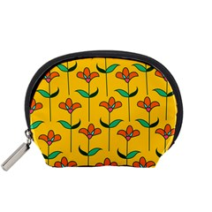 Small Flowers Pattern Floral Seamless Vector Accessory Pouches (Small)