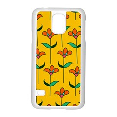 Small Flowers Pattern Floral Seamless Vector Samsung Galaxy S5 Case (White)