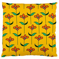 Small Flowers Pattern Floral Seamless Vector Large Flano Cushion Case (One Side)
