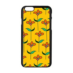 Small Flowers Pattern Floral Seamless Vector Apple Iphone 6/6s Black Enamel Case
