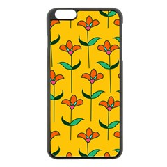 Small Flowers Pattern Floral Seamless Vector Apple Iphone 6 Plus/6s Plus Black Enamel Case