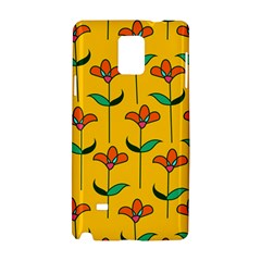 Small Flowers Pattern Floral Seamless Vector Samsung Galaxy Note 4 Hardshell Case