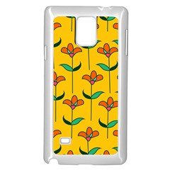 Small Flowers Pattern Floral Seamless Vector Samsung Galaxy Note 4 Case (white)