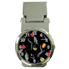 Colorful Tulip Wallpaper Pattern Background Pattern Wallpaper Money Clip Watches
