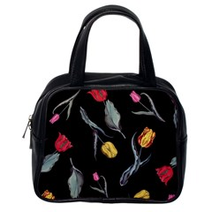 Colorful Tulip Wallpaper Pattern Background Pattern Wallpaper Classic Handbags (one Side)