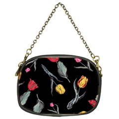 Colorful Tulip Wallpaper Pattern Background Pattern Wallpaper Chain Purses (one Side)