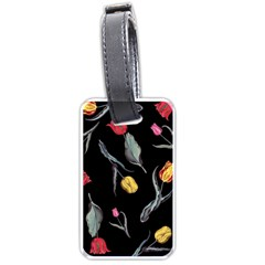 Colorful Tulip Wallpaper Pattern Background Pattern Wallpaper Luggage Tags (one Side)