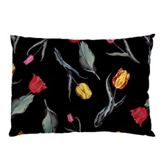 Colorful Tulip Wallpaper Pattern Background Pattern Wallpaper Pillow Case (Two Sides)