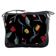 Colorful Tulip Wallpaper Pattern Background Pattern Wallpaper Messenger Bags