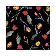 Colorful Tulip Wallpaper Pattern Background Pattern Wallpaper Acrylic Tangram Puzzle (6  X 6 )