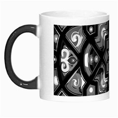 Geometric Line Art Background In Black And White Morph Mugs