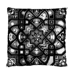 Geometric Line Art Background In Black And White Standard Cushion Case (one Side)