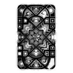 Geometric Line Art Background In Black And White Memory Card Reader