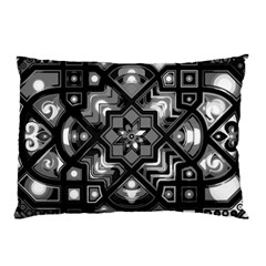 Geometric Line Art Background In Black And White Pillow Case (Two Sides)