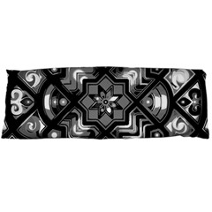 Geometric Line Art Background In Black And White Body Pillow Case Dakimakura (Two Sides)