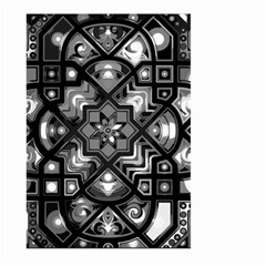 Geometric Line Art Background In Black And White Large Garden Flag (Two Sides)