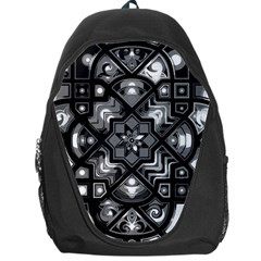 Geometric Line Art Background In Black And White Backpack Bag