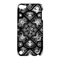 Geometric Line Art Background In Black And White Apple iPod Touch 5 Hardshell Case