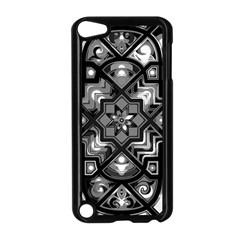 Geometric Line Art Background In Black And White Apple Ipod Touch 5 Case (black)