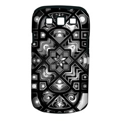 Geometric Line Art Background In Black And White Samsung Galaxy S Iii Classic Hardshell Case (pc+silicone)