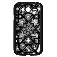 Geometric Line Art Background In Black And White Samsung Galaxy Grand DUOS I9082 Case (Black)