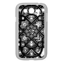 Geometric Line Art Background In Black And White Samsung Galaxy Grand Duos I9082 Case (white)