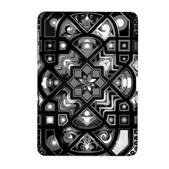 Geometric Line Art Background In Black And White Samsung Galaxy Tab 2 (10 1 ) P5100 Hardshell Case