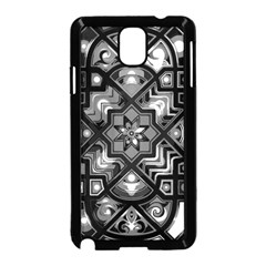Geometric Line Art Background In Black And White Samsung Galaxy Note 3 Neo Hardshell Case (Black)