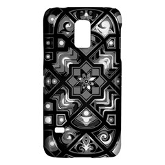 Geometric Line Art Background In Black And White Galaxy S5 Mini